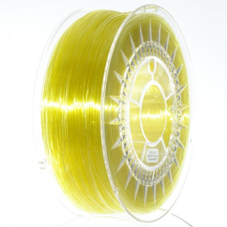 pet-g- brigt yellow  galben deschis transparent